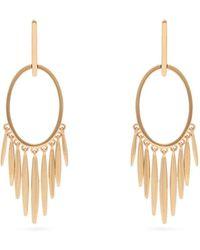Ileana Makri Grass Sunset 18kt Gold Earrings - Metallic