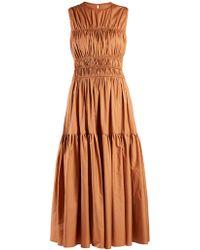 ROKSANDA - Isilda Round-neck Gathered Dress - Lyst