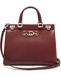 Gucci Zumi Grainy Leather Medium Top Handle Bag - Multicolour