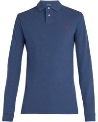 Polo Ralph Lauren - Long Sleeved Cotton Piqué Polo Shirt - Lyst