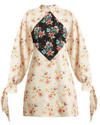 Christopher Kane - Archive Floral-print Crepe Mini-dress - Lyst