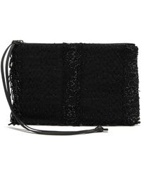 By Walid Victorian Bead-embroidered Clutch - Black