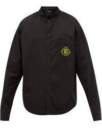 Balenciaga オーバーサイズ コットンポプリンシャツ - ブラック