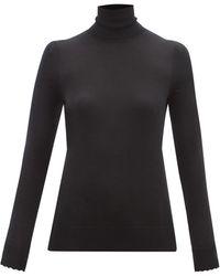 Chloé Chloé プリーツショルダー ウールタートルネックセーター - ブラック