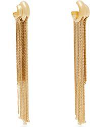 Givenchy - Boucles d'oreille à chaînes et charms logo - Lyst