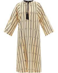 Gucci GG チェーン シルクチュニックドレス - ナチュラル