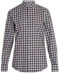 Ermenegildo Zegna - Checked Cotton Shirt - Lyst