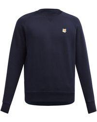 Maison Kitsuné - Fox Head-appliqué Cotton Sweatshirt - Lyst