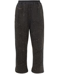 By Walid Jenny Upcycled Cotton And Wool-blend Trousers - Black