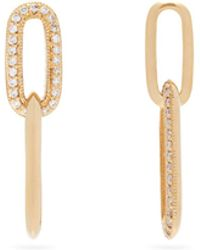 Lizzie Mandler Diamond & 18kt Gold Link Drop Earrings - Metallic