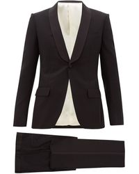 Gucci Grosgrain-trim Wool-blend Twill Tuxedo Suit - Black