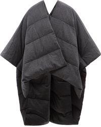 JOSEPH Padded Wool-blend Flannel Down Cape - Gray