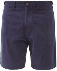 SMR Days Leeward Cotton-corduroy Shorts - Blue