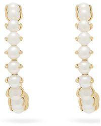 Ana Khouri Leah 18kt Gold & Pearl Earrings - Metallic