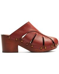 Chloé - Quinty Leather Clogs - Lyst