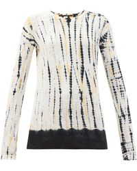 Proenza Schouler Tie-dyed Cotton-jersey Long-sleeved T-shirt - Multicolor