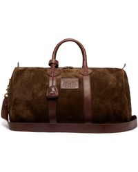 Polo Ralph Lauren Leather Trimmed Suede Holdall - Green
