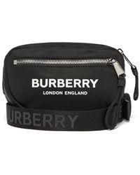 Burberry Logo-print Belt Bag - Black