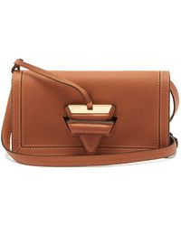 Loewe Barcelona Mini Leather Cross-body Bag - Brown