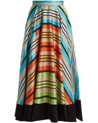 Mary Katrantzou Alice Striped Organza Skirt - Multicolour