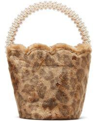 Shrimps Verity Leopard-print Faux-fur Bucket Bag - Multicolor