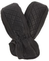 Toni Sailer Lizzy Quilted Leather Mittens - Black