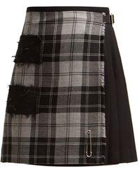 Le Kilt - Douglas 47cm Checked Wool Kilt - Lyst