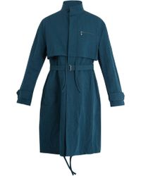 Acne Studios - Mali Cotton And Linen Blend Overcoat - Lyst