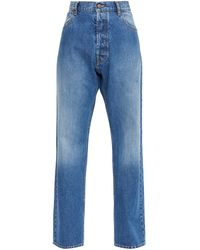 Maison Margiela ハイライズ ワイドジーンズ - ブルー