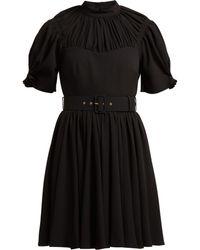 Emilia Wickstead - Corinne Pleated Crepe Mini Dress - Lyst