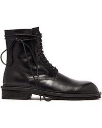 Ann Demeulemeester - Black Combat Lace-up Boots - Lyst