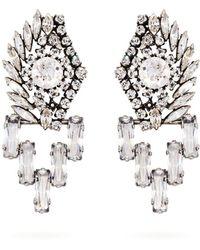 Sonia Rykiel - Oversized Crystal-embellished Earrings - Lyst