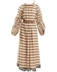 Fendi - Striped Cotton-blend Dress - Lyst