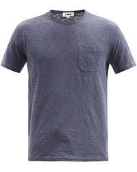 YMC ワイルド ワンズ ガーメントダイ コットンtシャツ - ブルー