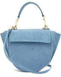 Wandler Hortensia Mini Corduroy Shoulder Bag - Blue