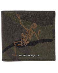 Alexander McQueen - Dancing Skeleton Grained-leather Wallet - Lyst