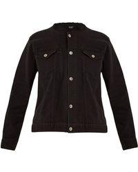 Eve Denim Kaila Collarless Denim Jacket - Black
