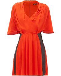 Atlein Draped V-neck Jersey Mini Dress - Multicolour