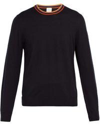Paul Smith - Artist Stripe Trimmed Wool Sweater - Lyst
