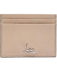 Christian Louboutin Kios Logo Leather Cardholder - White