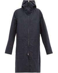 Jil Sander Hooded Technical Raincoat - Blue