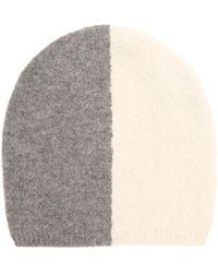 f2f075a63a9 Denis Colomb - Bi-colour Cashmere Beanie Hat - Lyst