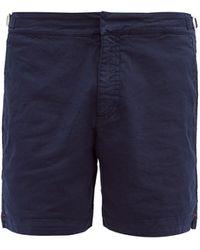 Orlebar Brown ブルドッグ コットンツイル ショートパンツ - ブルー