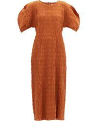 Mara Hoffman アランザ シャーリング オーガニックコットンドレス - オレンジ