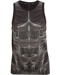 Neil Barrett Topography Body-print Cotton-jersey Tank Top - Black