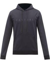 Castore Garcia Logo-print Jersey Hooded Sweatshirt - Black