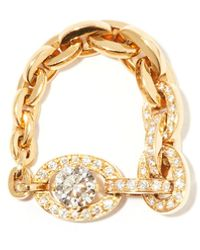Sophie Bille Brahe Santa Fe Diamond & 18kt Gold Chain Ring - Metallic