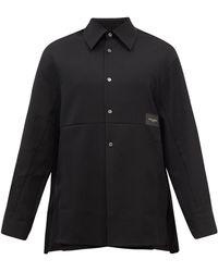 WOOYOUNGMI ロゴタグ ウールシャツ - ブラック
