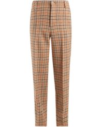 Golden Goose Deluxe Brand - Checked Wool Trousers - Lyst