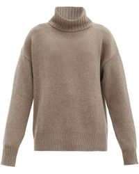Extreme Cashmere No. 20 Oversize Xtra Stretch-cashmere Sweater - Brown